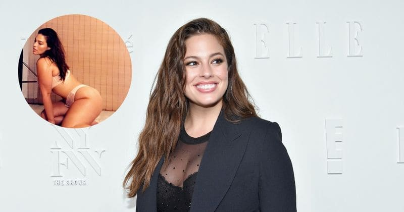 88289405e67 Plus size model Ashley Graham shows off her gorgeous curves in racy lingerie  shoot