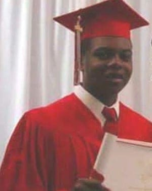 Dashcam video footage released showing that Laquan McDonald (in pic) appeared to be moving away from police when he was shot, contradicting Van Dyke's account (Twitter)