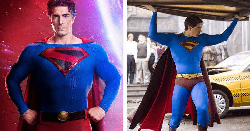 Brandon Routh's Superman outfit for 'Crisis on Infinite ...