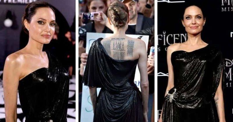 Angelina Jolie Flaunts One Shoulder Atelier Versace Gown