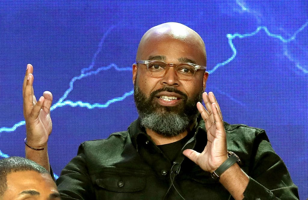 Executive Producer Salim Akil of the television show 'Black Lightning' speaks onstage during the CW portion of the 2018 Winter Television Critics Association Press Tour at The Langham Huntington, Pasadena on January 7, 2018, in Pasadena, California. (Getty Images)
