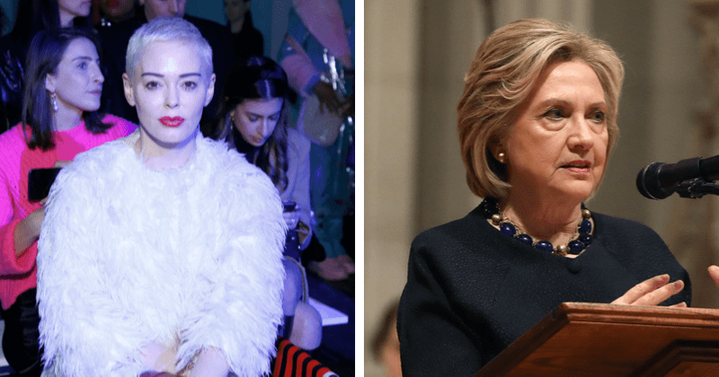 Rose McGowan rips Hillary Clinton over ties to 'predators' Bill Clinton and Harvey Weinstein: 'I can't believe I used to support her'