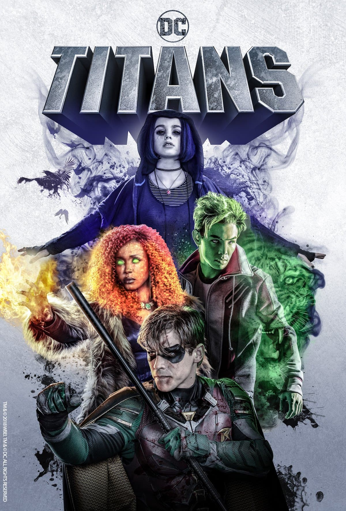 The 'Titans' official poster (Source: DC Universe)