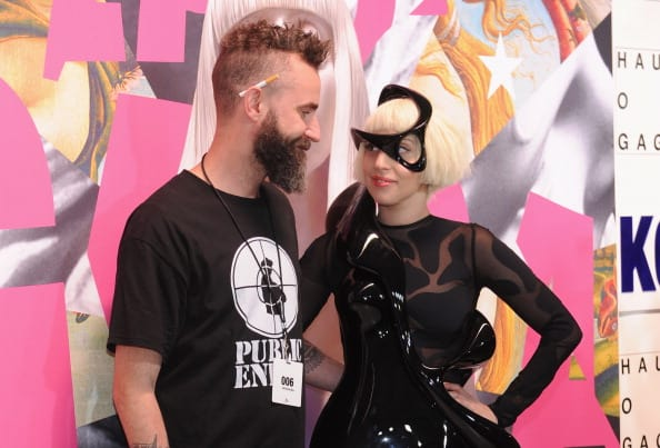 DJ White Shadow poses with Lady Gaga as Gaga Presents 'artRave' at Brooklyn Navy Yard on November 10, 2013, in the Brooklyn borough of New York City. (Getty Images)