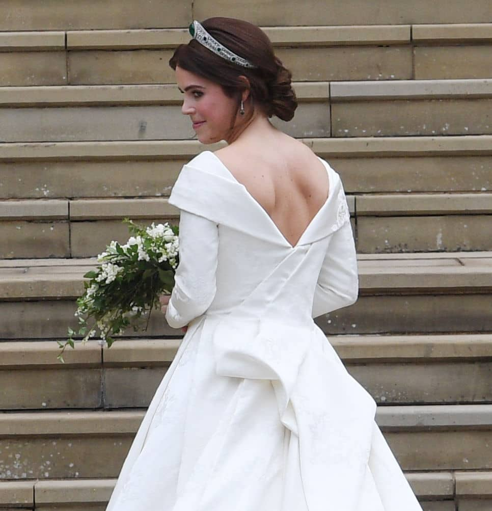 Princess Eugenie of York arrives for her wedding to Jack Brooksbank at St. George's Chapel on October 12, 2018, in Windsor, England. (Getty Images)