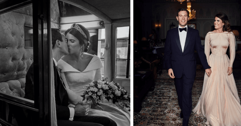 1196865ac4f3 Princess Eugenie went for a bespoke Zac Posen vintage evening gown for her  reception