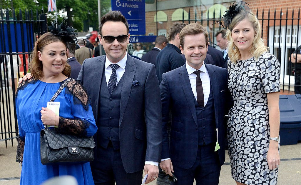 Ant McPartlin (second left) with Lisa Armstrong (left) seen here with Ant's friend Declan Donnelly and wife Ali Astall in June 16, 2015 in Ascot (Photo by Kirstin Sinclair/Getty Images)