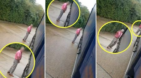 Driver stunned as well-spoken 'grandad' decides to urinate on his parked truck instead of a bush