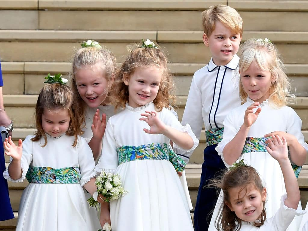 Prince George with the other bridesmaids and page boys at Princess Eugenie's wedding on October 12 (Photo by Toby Melville - WPA Pool/Getty Images)
