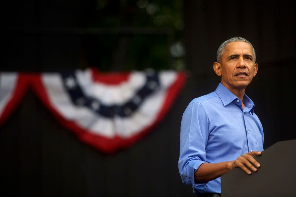 Former President Barack Obama speaks during a campaign rally for Senator Bob Casey (D-PA) and Pennsylvania Governor Tom Wolf on September 21, 2018 in Philadelphia, Pennsylvania. Midterm election day is November 6. (Getty Images)