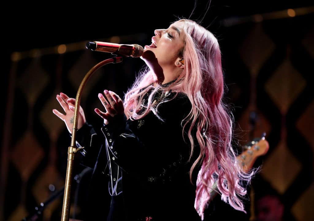 Kesha performs onstage during 102.7 KIIS FM's Jingle Ball 2017 presented by Capital One at The Forum on December 1, 2017, in Inglewood, California. (Getty Images)