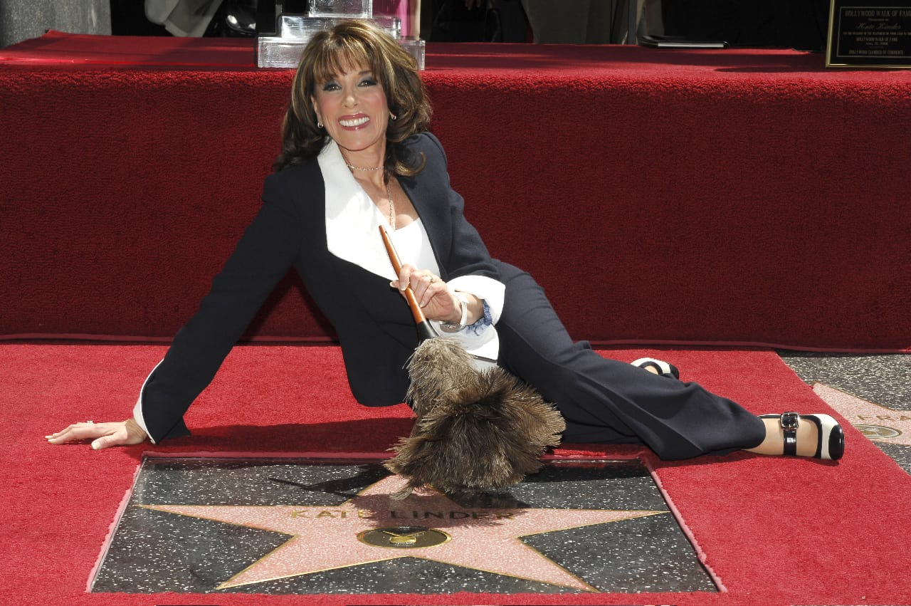 Kate Linder receiving a Star on the Hollywood Walk of Fame ( PC - Bob Freeman)