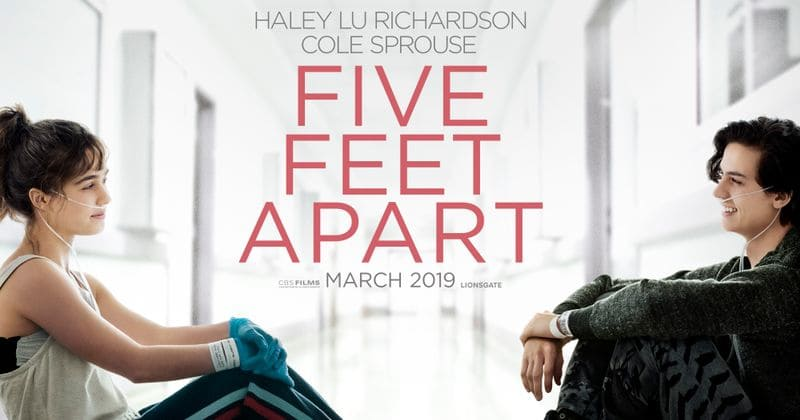 Five Feet Apart Starring Cole Sprouse Haley Lu Richardson Scheduled To Release March 2019