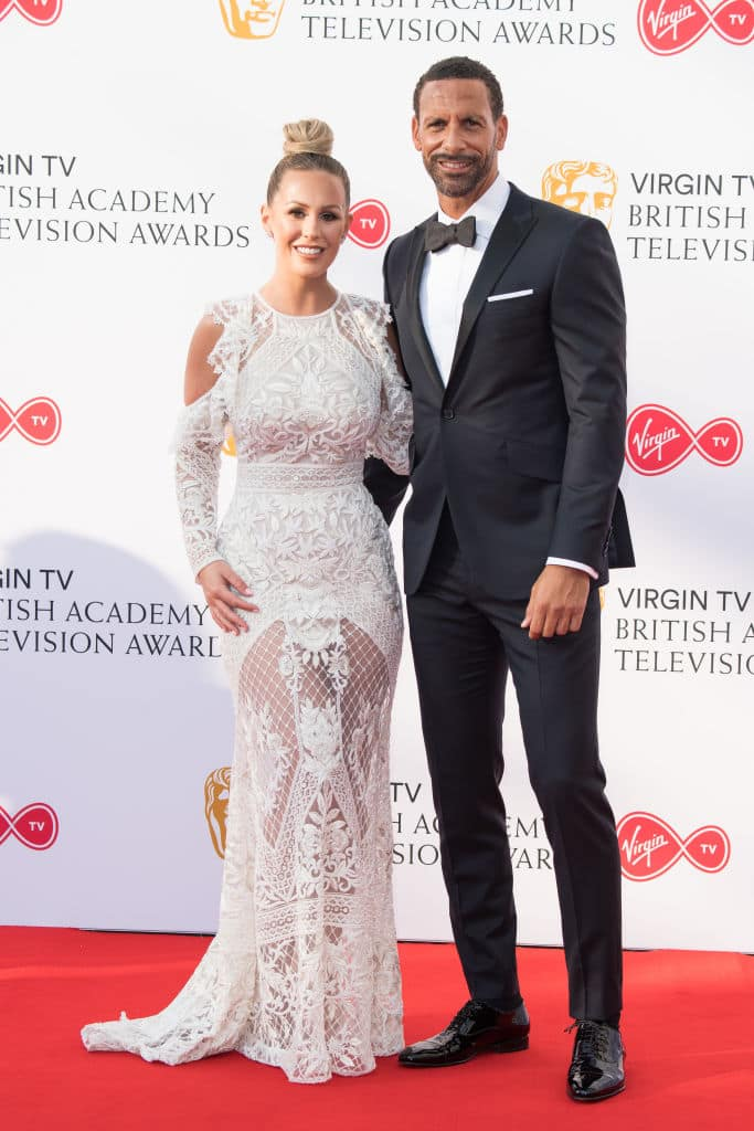 Kate Wright and Rio Ferdinand attend the Virgin TV British Academy Television Awards at The Royal Festival Hall on May 13, 2018, in London, England. (Getty Images)