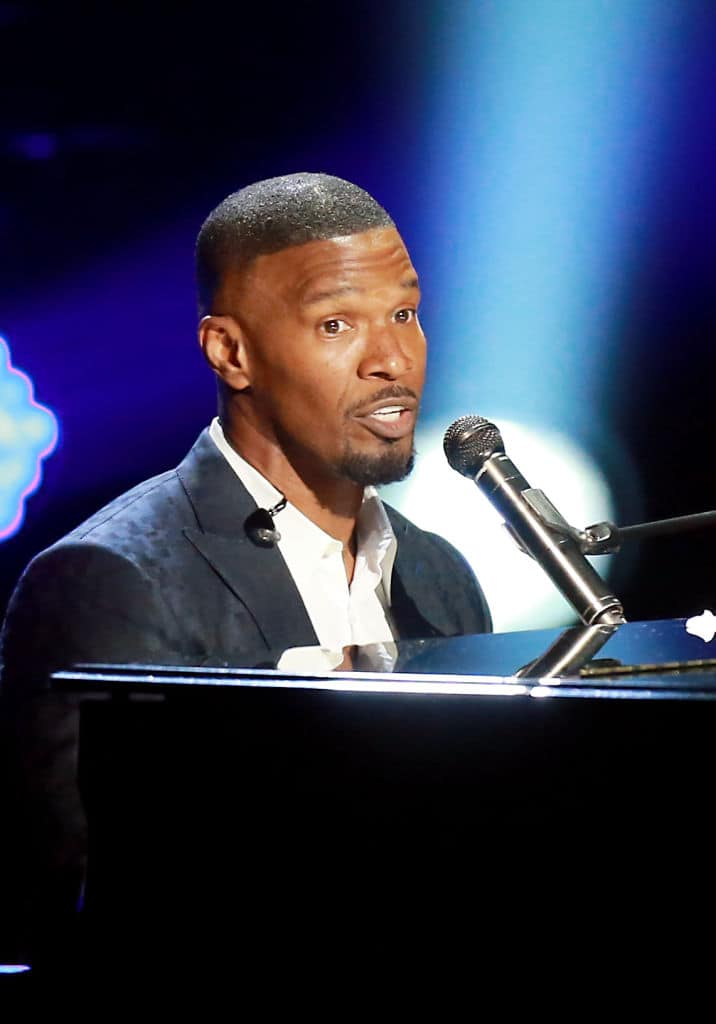 Host Jamie Foxx performs onstage at the 2018 BET Awards at Microsoft Theater on June 24, 2018, in Los Angeles, California. (Getty Images)