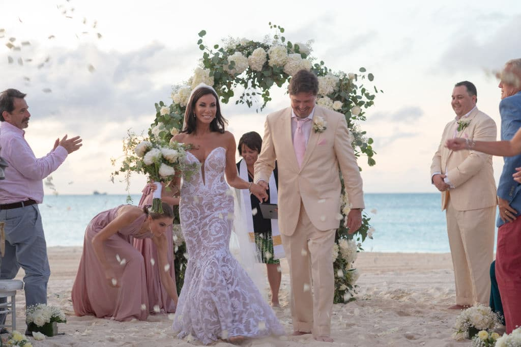 Danielle Staub and Martin Caffrey get married in Bimini on May 5, 2018, in Bimini, Bahamas. (Getty Images)