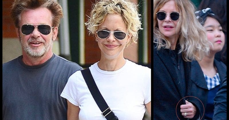 Meg Ryan sparks engagement rumors after she was spotted wearing a huge diamond ring
