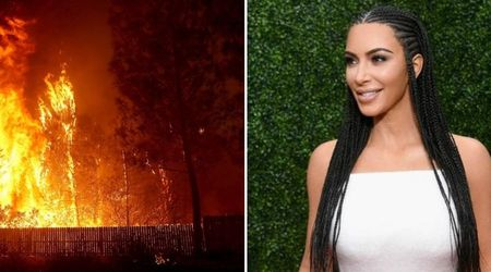 Kim Kardashian visits botox clinic just days after as she was forced to evacuate her home as wildfires threatened to engulf it