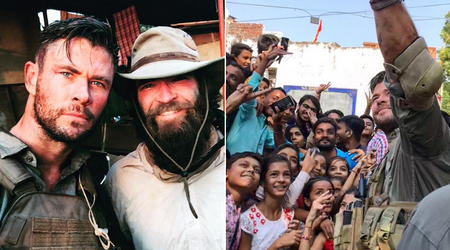 Chris Hemsworth swamped by Indian fans while filming 'most intense action sequences ever done' for upcoming Netflix film
