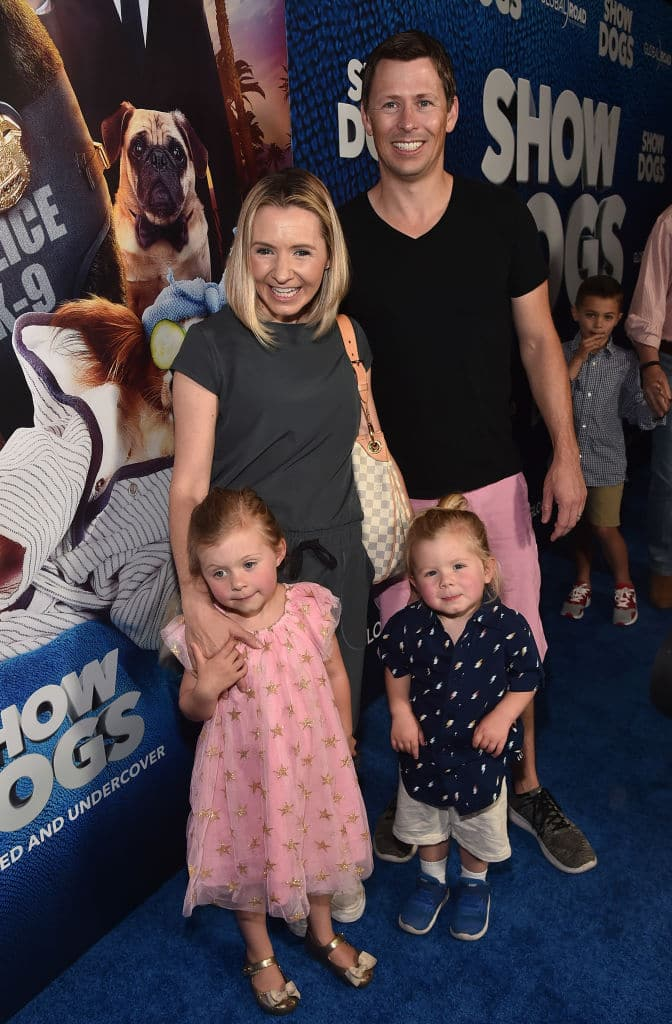 Beverley Mitchell and Michael Cameron tied the knot in 2008, and welcomed daughter Kenzie in 2013 and son Hutton in 2015 (Photo by Alberto E. Rodriguez/Getty Images)