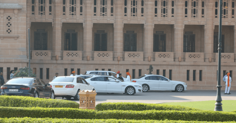 The family members on the bride and groom's side have been put up at the Umaid Palace hotel itself for the entire duration of the wedding. (Meaww Photos)