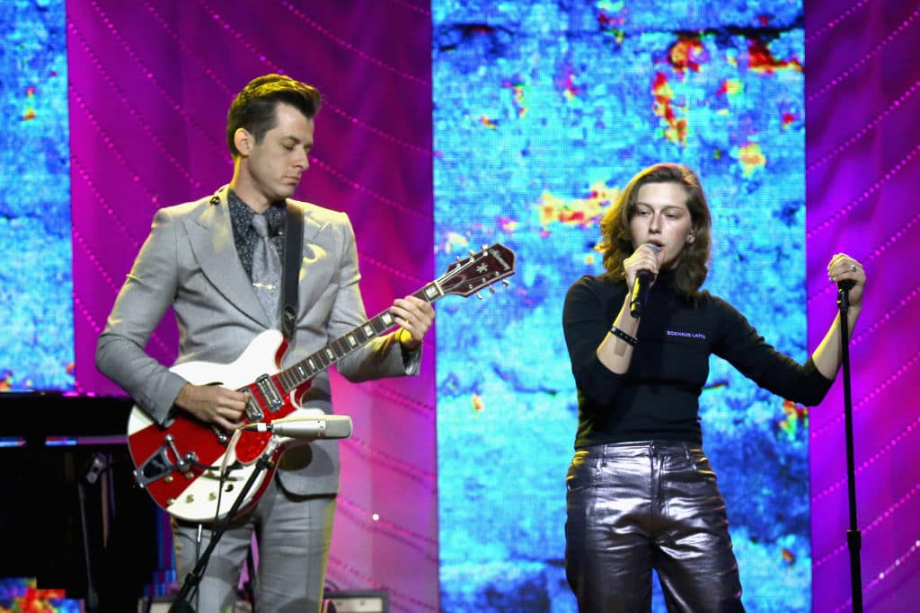 Mark Ronson and King Princess perform onstage at the 66th Annual BMI Pop Awards at Regent Beverly Wilshire Hotel on May 8, 2018, in Beverly Hills, California. (Getty Images)