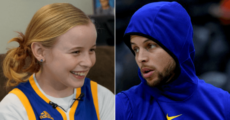 huge discount c5967 149f2 9-year-old girl asks Stephen Curry why his shoe was for boys ...