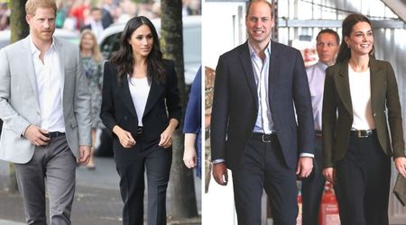 Kate Middleton steals Meghan Markle's style as she's spotted wearing pantsuit for the first time