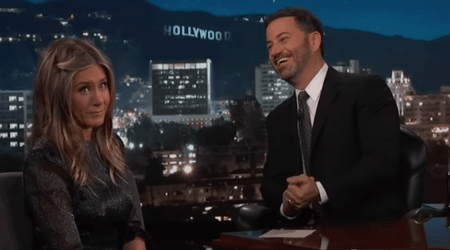 """She took a s**t in the backyard"": Jennifer Aniston reveals what Jimmy Kimmel's daughter did in her house"