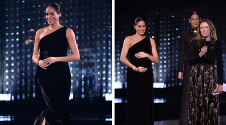 Pregnant Meghan Markle makes a surprise appearance at the British Fashion Awards and steals the show in her Givenchy  gown