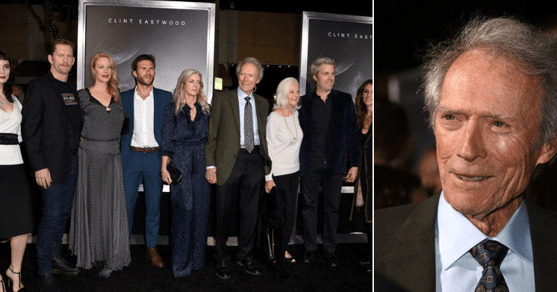 Clint Eastwood's extended family shows up to support Hollywood legend's return with 'The Mule' after 6-year hiatus