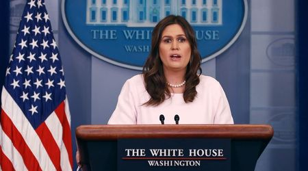 White House press secretary Sarah Sanders says Donald Trump insults female reporters to 'treat them equally'