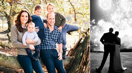Meghan and Harry and Kate and William reveal their strikingly different Christmas card photos