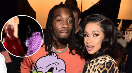 Offset crashes Cardi B's stage to beg for forgiveness and ask her to take him back leaving her visibly annoyed