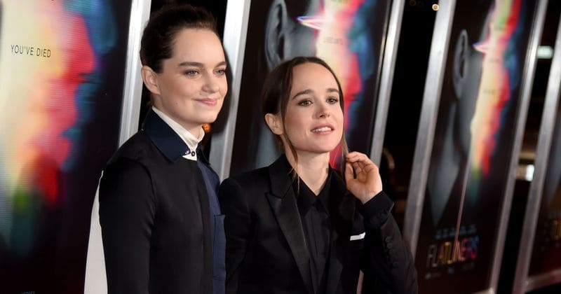 Ellen Page Enjoys A Snuggle With Wife Emma Portner Posts A Loved Up Picture On Social Media Meaww