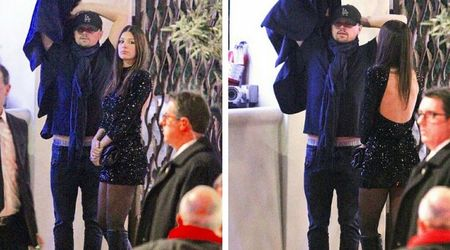 Leonardo DiCaprio's 22-year-old girlfriend Camila Morrone wows in sparkly black mini-dress at Seth MacFarlane's Christmas bash