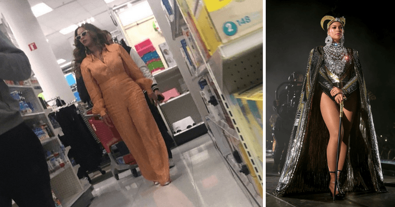 Beyonce spotted in Target on daughter Blue Ivy's birthday shopping for bargain items despite being worth $355 million