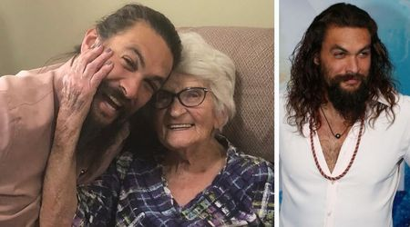 Jason Momoa displays his softer side, posts adorable pictures with his grandma after jetting to Iowa to meet her