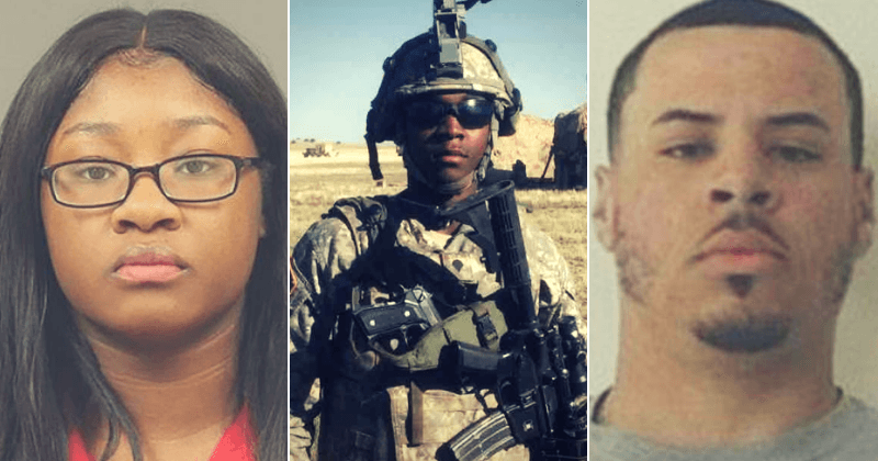 Image result for Kemia, 22, and Tyrone Hassel, 23, were both soldiers. They shared a 2-year-old son.