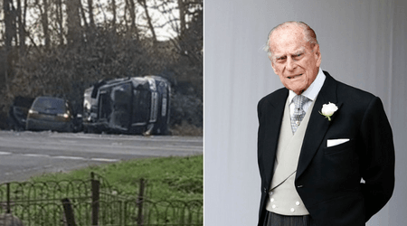 Prince Philip, 97, 'shocked and shaken' after the car he was driving overturned in a traffic accident
