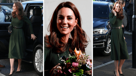 Kate Middleton wows in flowing green belted outfit from Beulah as she visits family charity
