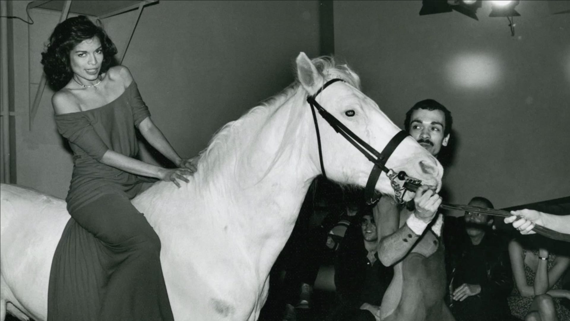 Bianca Jagger rode a white horse across the dance floor  (Getty Images)