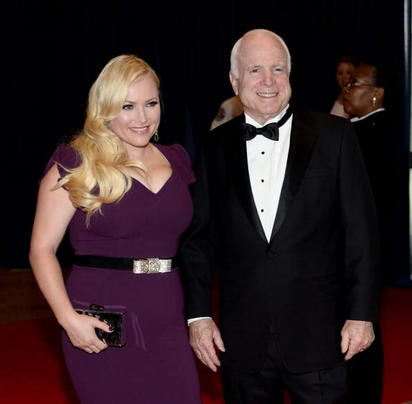 Megan McCain and Senator John McCain attend the 100th Annual White House Correspondents' Association Dinner at the Washington Hilton on May 3, 2014, in Washington, DC. (Photo by Dimitrios Kambouris/Getty Images)