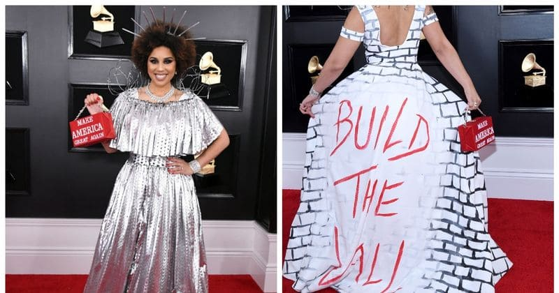 Joy Villa: Joy Villa Wears A 'BUILD THE WALL' Outfit Paired With A