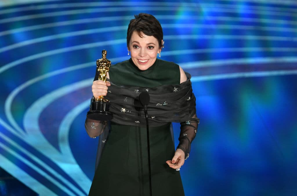 Olivia Colman accepts the Actress in a Leading Role award for 'The Favourite' onstage during the 91st Annual Academy Awards at Dolby Theatre on February 24, 2019 in Hollywood, California. (Photo by Kevin Winter/Getty Images)
