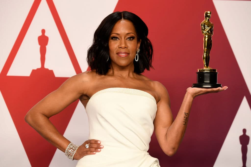 Regina King with the award for an actress in a supporting role for 'If Beale Street Could Talk' in the press room during at Hollywood and Highland on February 24, 2019 in Hollywood, California. (Photo by Frazer Harrison/Getty Images)