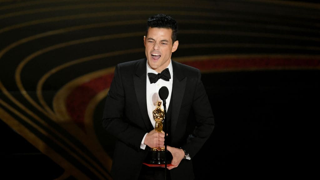 Rami Malek accepts the Actor in a Leading Role award for 'Bohemian Rhapsody' onstage during the 91st Annual Academy Awards at Dolby Theatre on February 24, 2019 in Hollywood, California. (Photo by Kevin Winter/Getty Images)