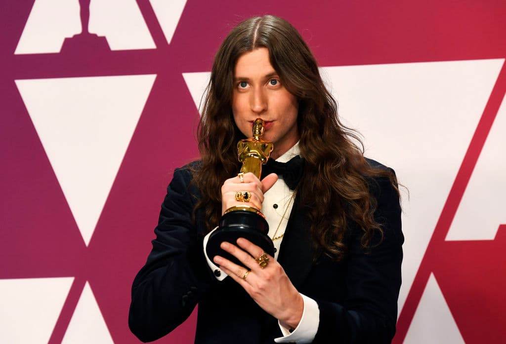 Composer Ludwig Goransson, winner Best Original Score for 'Black Panther,' poses in the press room during the 91st Annual Academy Awards at Hollywood and Highland on February 24, 2019 in Hollywood, California. (Photo by Frazer Harrison/Getty Images)