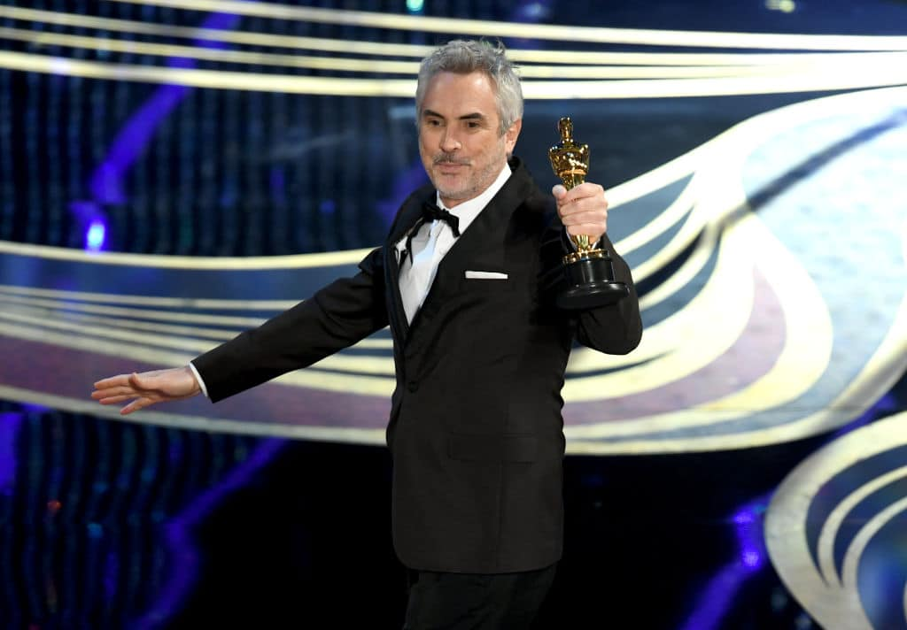 Alfonso Cuaron accepts the Cinematography award for 'Roma' onstage during the 91st Annual Academy Awards at Dolby Theatre on February 24, 2019 in Hollywood, California. (Photo by Kevin Winter/Getty Images)