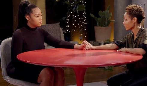 Jada consoles Jordyn on her Facebook Watch show 'Red Table Talk' on Friday (Facebook)